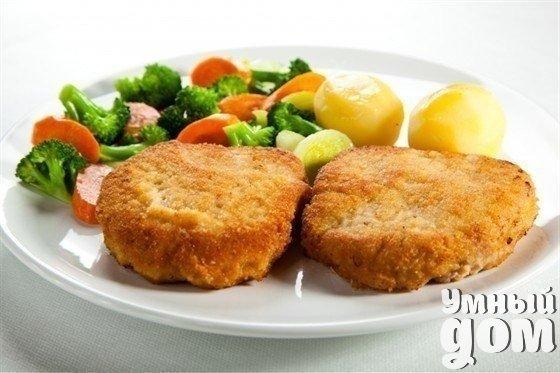 Аппетитные шницели Ингредиенты: 5 больших картошек очистить и натереть на крупной терке. Добавить 500 гр. фарша, любого. 5 яиц 5 ст. ложек муки Соль и приправы по вкусу. Приготовление: 1. Все ингредиенты хорошенько перемешать. 2. Большой ложкой брать смесь и жарить на сковороде в раскаленном растительном масле до золотистого цвета. 3. Рецепт очень простой, а получается очень вкусно. Приятного аппетита! Умный дом - идеальный уголок для хозяюшки!
