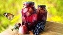 Компот из яблок и винограда на зиму.