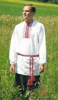 мужик в русском народном костюме раскраска