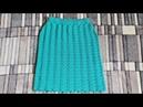 Юбка Голубая бирюза МК Вязание спицами