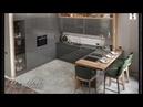 Проект, дизайн кухни-гостиной в новом ЖК Смольный проспект