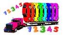 Мультики Про Цветные Машинки Большой Грузовик Учим Цвета и Цифры Для Детей