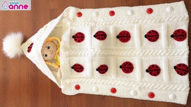 Portbebe tulum battaniye yapımı - Bebek battaniyesi yapımı