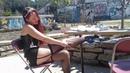 Kudra black corset thigh high stockings high heels and garter belt