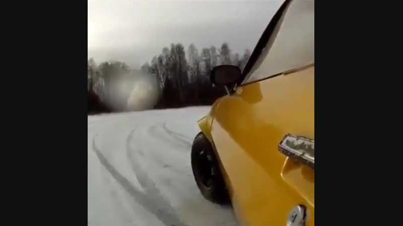 Would you do this? ❄️☃️Ice racing a 75 Camaro with a 454 big block Chevy!
