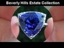 Genuine Estate 12 26 Carat Tanzanite Diamond Cocktail Ring Beverly Hills Collection