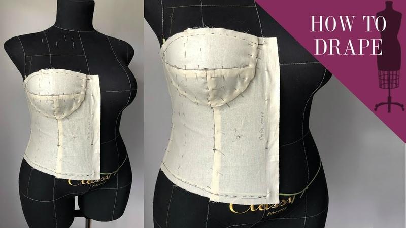 How To Drape A Bra Cup Bodice using a dress form