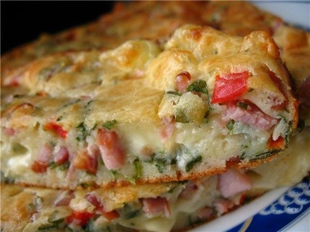 Omelette: tocino, patatas, cebollas verdes y queso.. Página 1