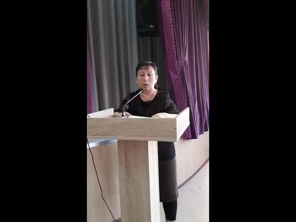 Пресс конференция с кафедры в Средней школе гимназии имени Абая