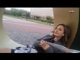 Елена Тринеева гуляет по утрам... На этот раз ведущая программы