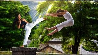 Taekwondo Girl Vs Kung Fu Girl Martial Arts Action Scene