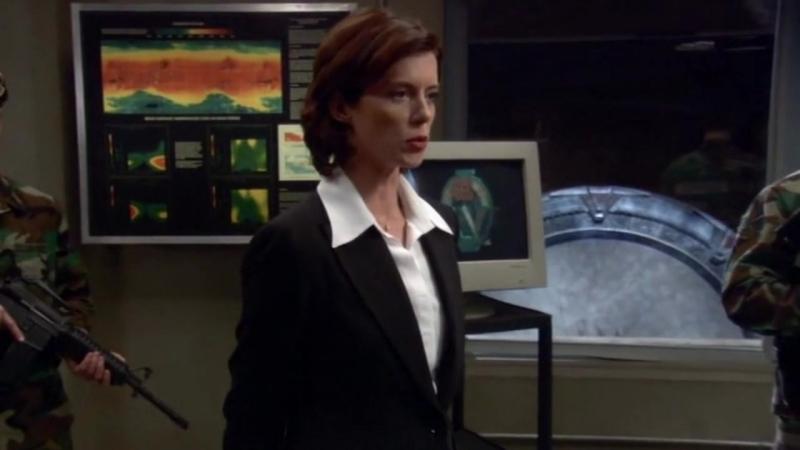 Звездные врата: Первый отряд  1-2 серия 8 сезона  Элизабет Вейр 17 сцена