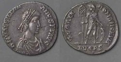 Древнеримские женщины-богини, монеты, Глория