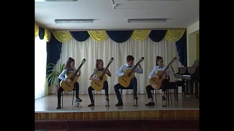 Ансамбль гитаристов Круиз (второй состав) ДШИ №4,г.Орск, рук. Нефедова Л.В.