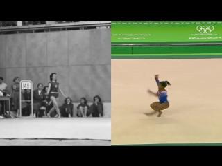 Спортивная гимнастика, вольные упражнения (1952-2016)