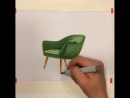 Design sketch | chair by Terekhov Pavel Sketches@ Tutorial@