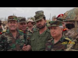 Самолеты приветствуют войска в Восточном Каламуне (23 апреля 2018) :