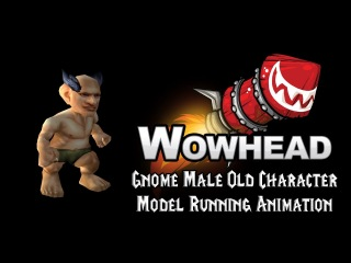 [Legion] Gnome Male Old Character Model Running Animation