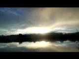 Удивительное зарево= РОЗОВЫЙ ТРЕУГОЛЬНИК в небе над рекой Мелекеской в Набережных Челнах-2018 август