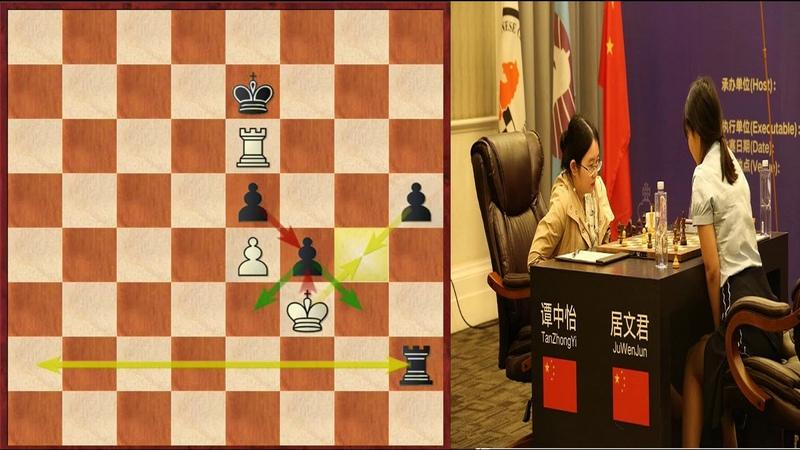 Шахматы. Матч за звание чемпионки мира по шахматам! (Тань Чжунъи- Цзюй Вэньцзюнь)- 9-я партия