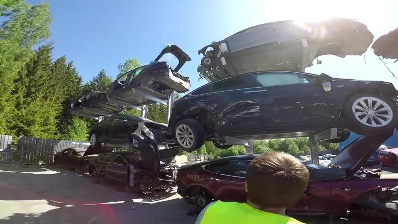 Огромная разборка и Самая Быстрая Tesla P100DL Норвегия ч 2