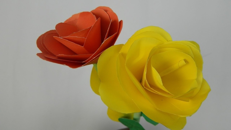 How to make rose with paper easily -Diy origami rose