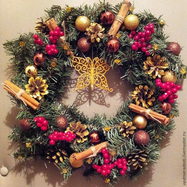 Делаем рождественский венок Новогоднее настроение… (9 фото) - картинка