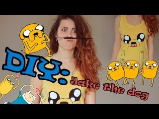 DIY:  Рисуем пса Джейка на майке/Adventure time/ Jake the dog|Fosssaaa