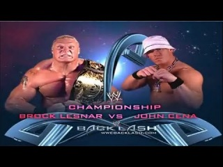WWE Backlash 2003 Brock Lesnar Vs John Cena