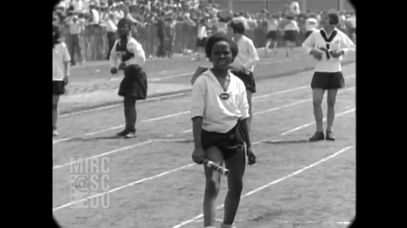 May 23, 1929 - Children's Track and Field in Newark, NJ (real sound)