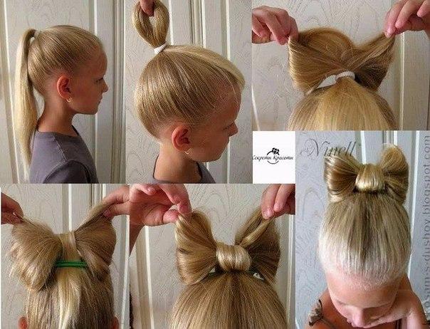 Прически для девочек на длинные волосы в домашних условиях легкие