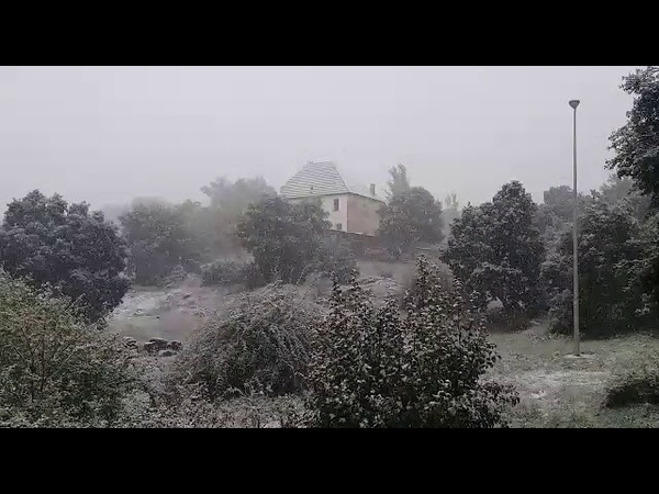 Les premières chutes de neige à Ifrane