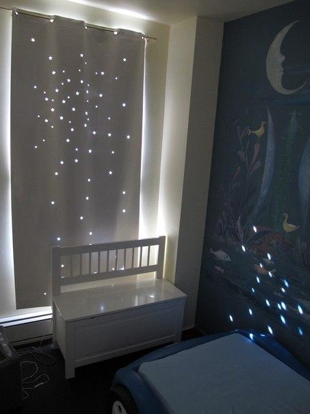 «Звездные» шторы для детской