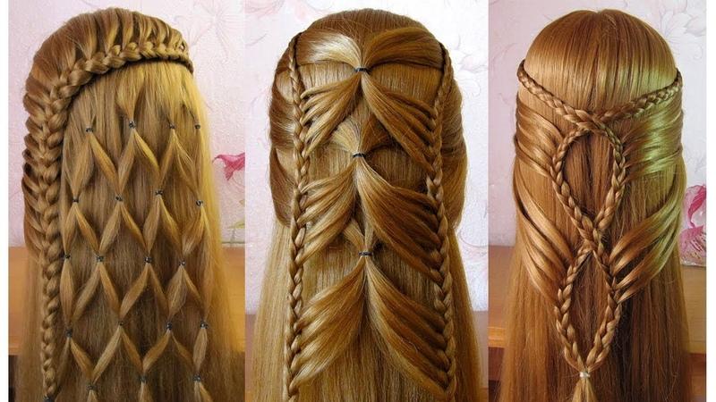 Coiffures simples et belles 🌷 facile à faire cheveux longs/mi longs
