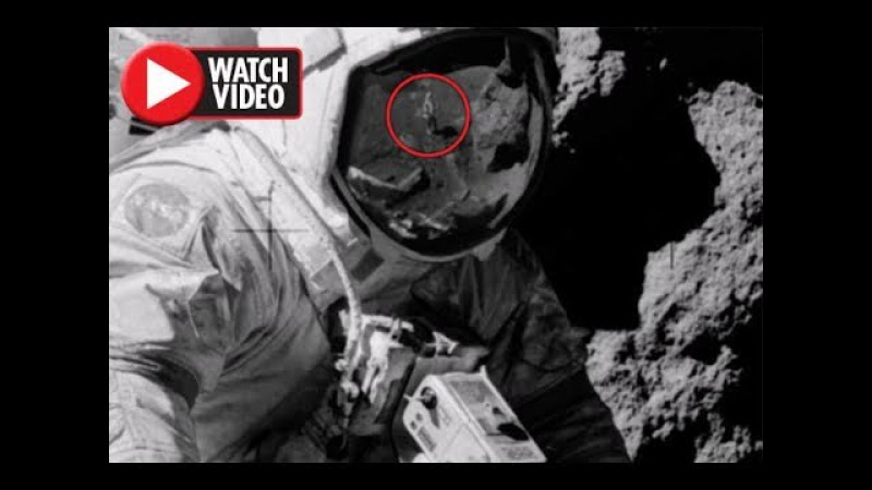 Moon landing FAKED? Image of astronaut's visor 'PROVES' NASA staged Apollo 17 mission!
