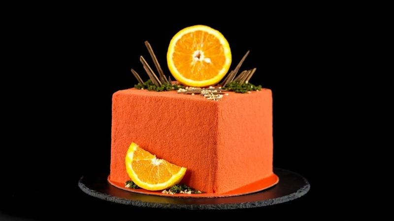 КАК СОБРАТЬ И ВЫРОВНЯТЬ ТОРТ Покрываем бисквитный торт велюром