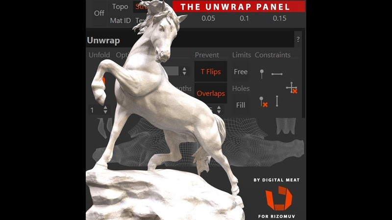 Rizom UV The Unwrap Panel