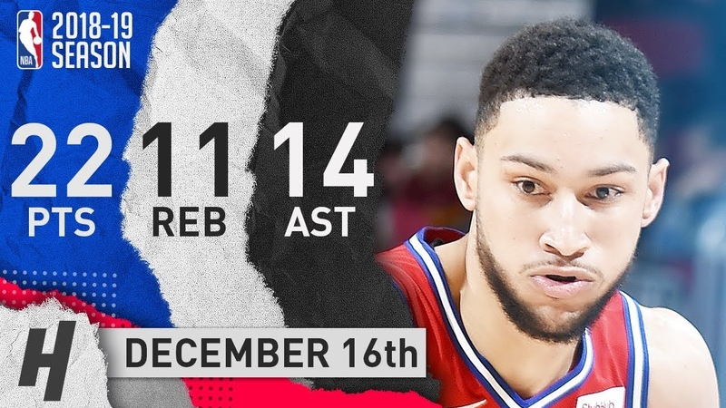 Ben Simmons Triple-Double Highlights 76ers vs Cavaliers 2018.12.16 - 22 Pts, 14 Ast, 11 Reb!