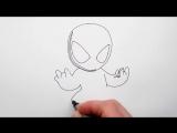 Mirage4You Как Нарисовать Венома (чиби) поэтапно Веном - заклятый враг Человека Паука