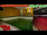 Abandoned High School Exploration Jumped into Pool!