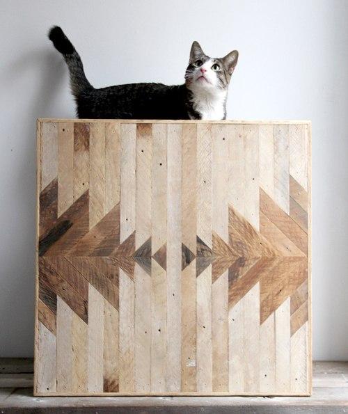 Необычный декор стен - оригинальные деревянные панно для интерьера