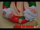 Ghirlanda Buone feste Natale a casa dei nonni christmas wreath tutorial