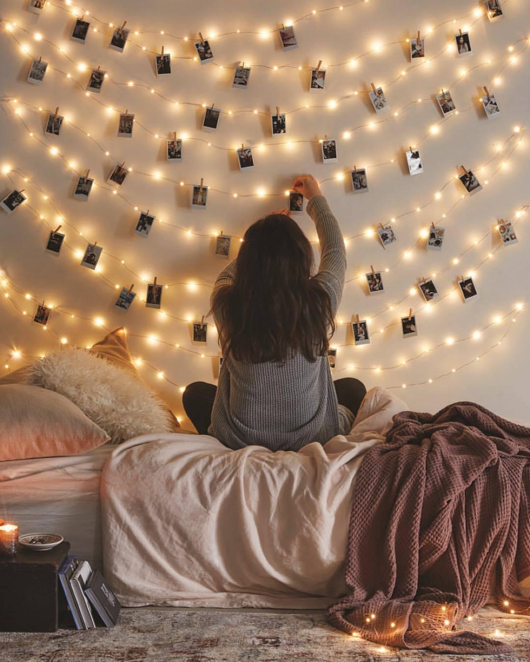 Милые гирлянды-прищепки для украшения комнаты -