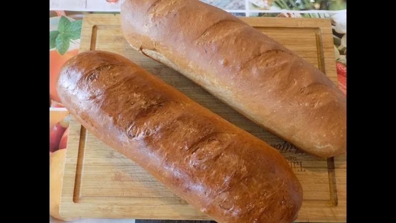 Домашний молочный Батон в духовке. домашний хлеб