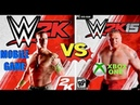 WWE 2K Mobile Game Finishers VS WWE 2K15 X Box One Finishers😍👏 WHO IS THE BEST😍👏