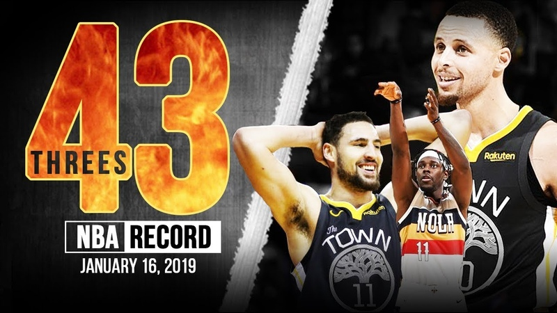 Golden State Warriors NO Pelicans NBA RECORD 43 Threes! | January 16, 2019 | FreeDawkins