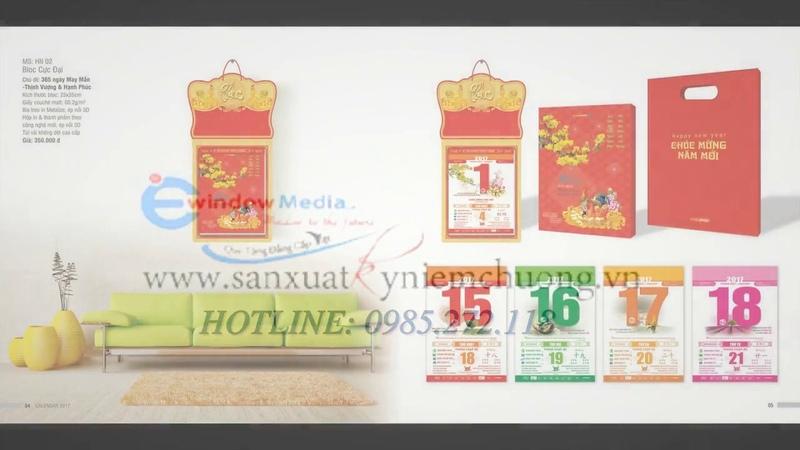 Nhận in lịch tết giá rẻ 2019 tại đà nẵng | LH: 0985.272.118