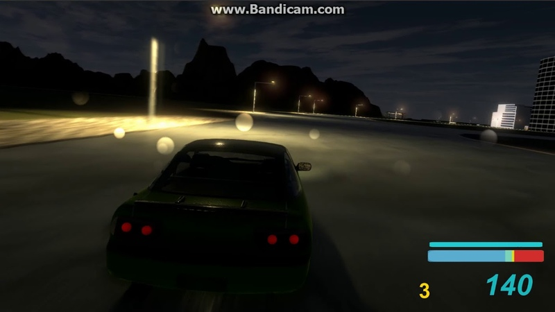 WIP Unity3D racing game by BA'AG (Night Time)