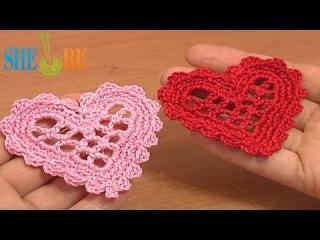 Сердечко вязаное крючком Урок 11 Элемент крючком