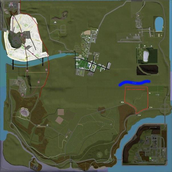 GTA Криминальная Россия - Игровая карта